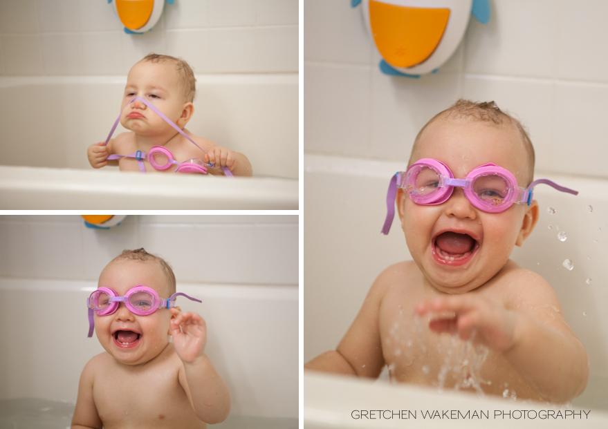 Bath Time with Princess Goggles