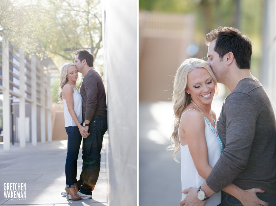 Phoenix Engagment Photography in Downtown Phoenix near Heritage Square by Phoenix Engagement Photographer Gretchen Wakeman Photography
