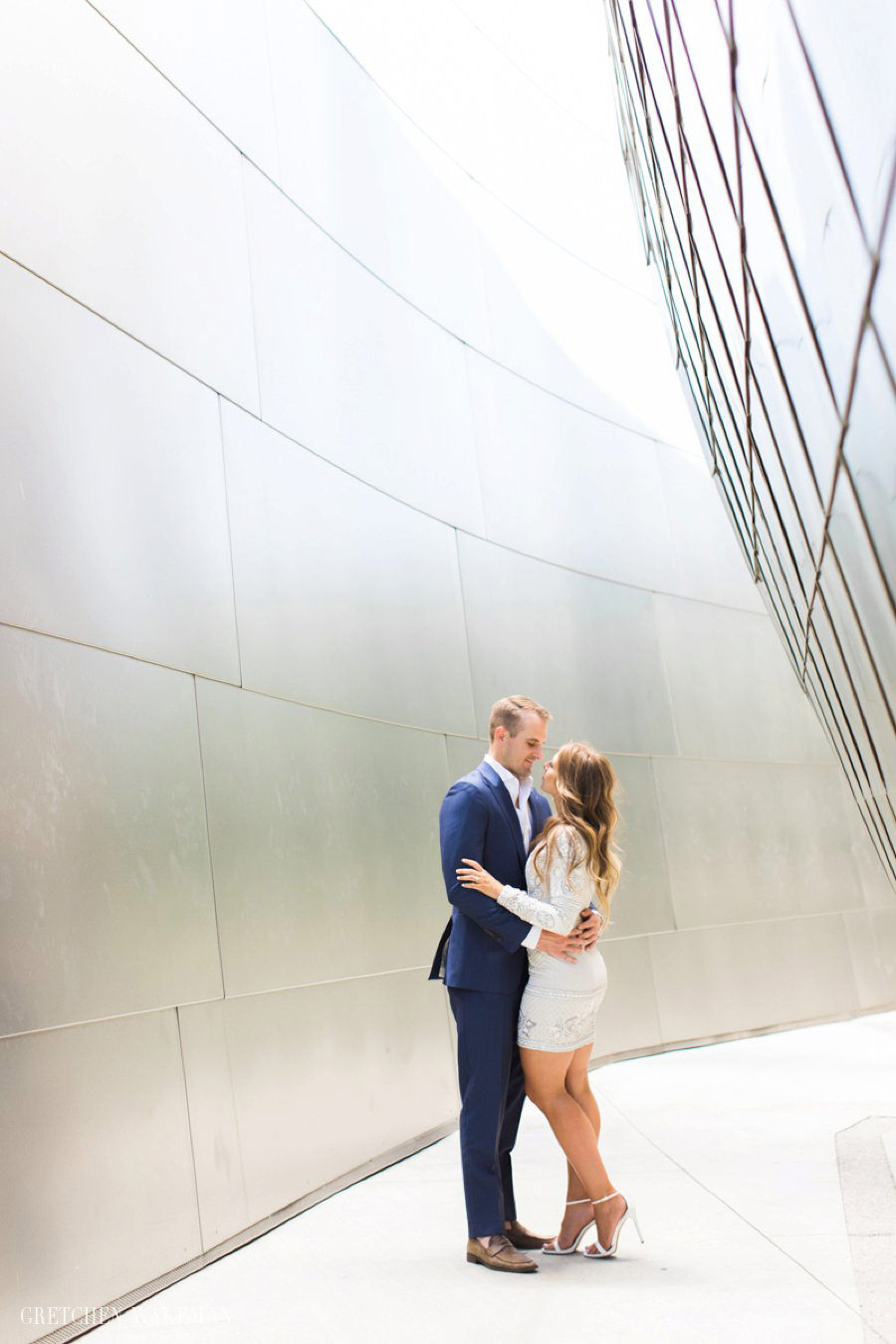 engagement photos Walt Disney Concert Hall