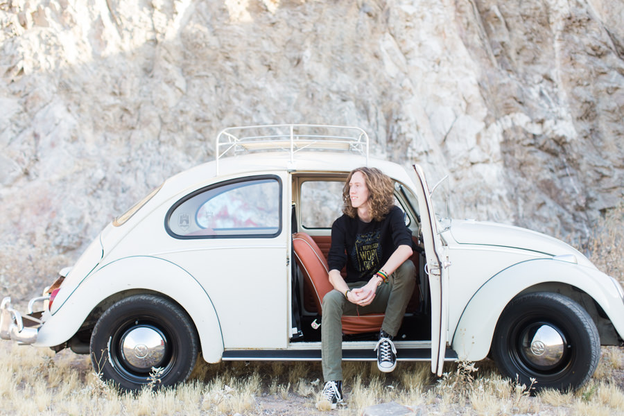 Phoenix Senior Photographer, Senior Photos with Vintage VW Bug