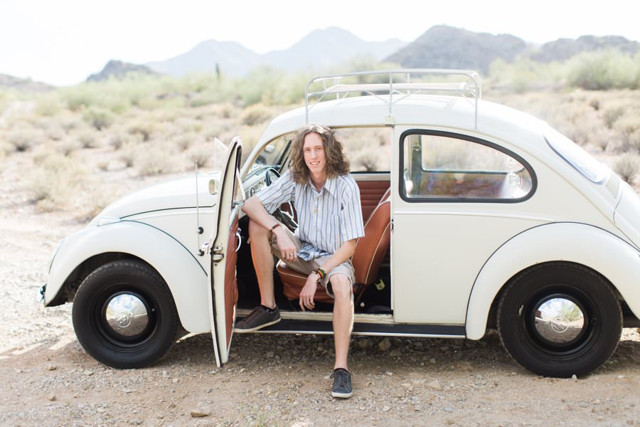 Senior Photos with Vinage VW Bug