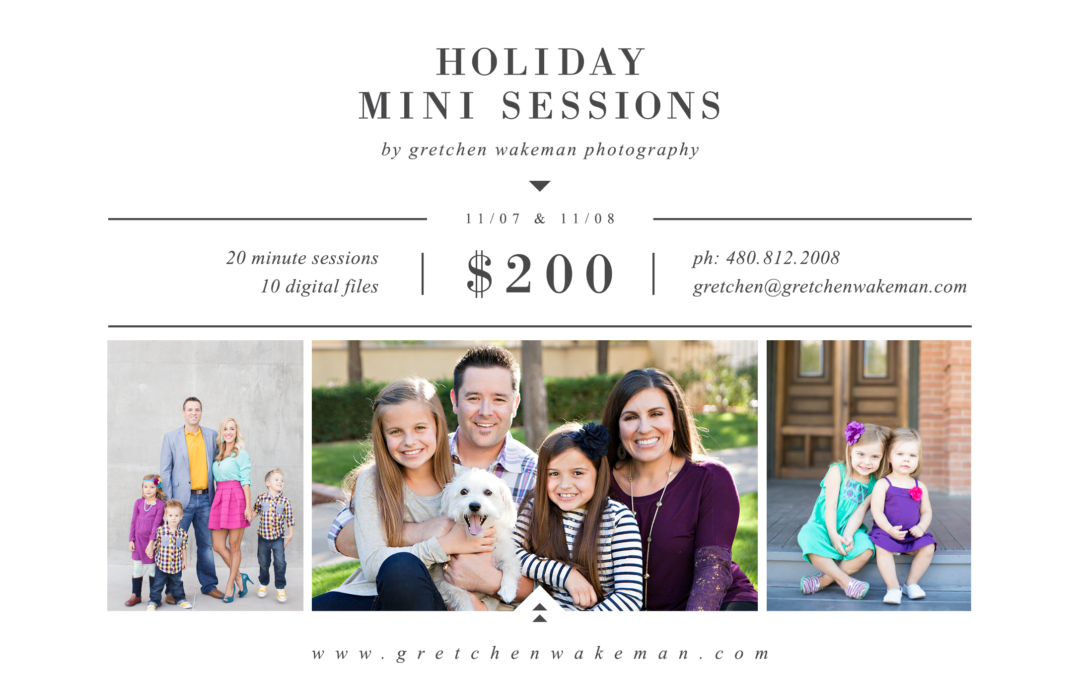 2015 HOLIDAY MINI SESSIONS