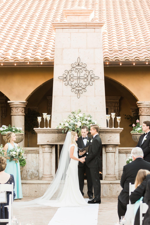 Romantic Villa Siena outdoor wedding ceremony