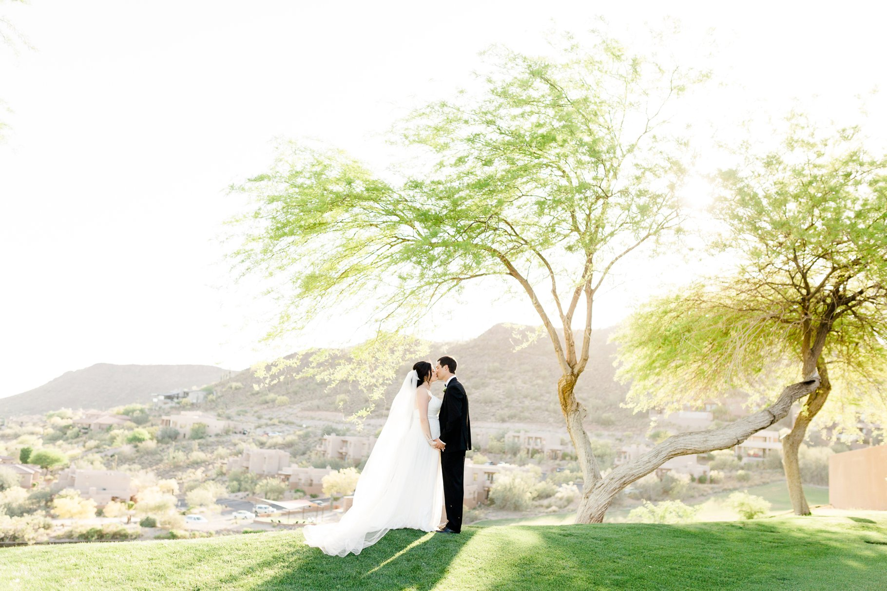 Bride and Groom at Eagle Mountain