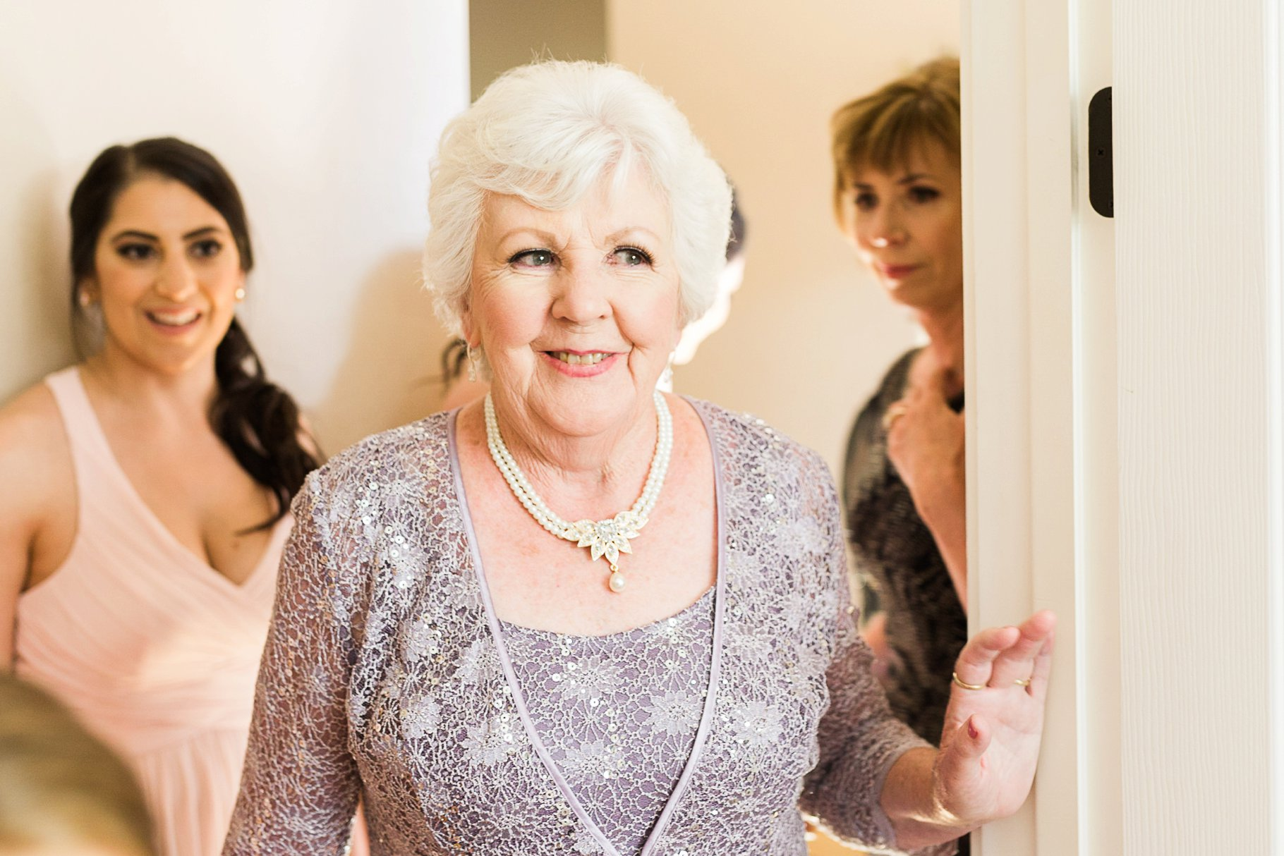 Grandma seeing bride for the first time