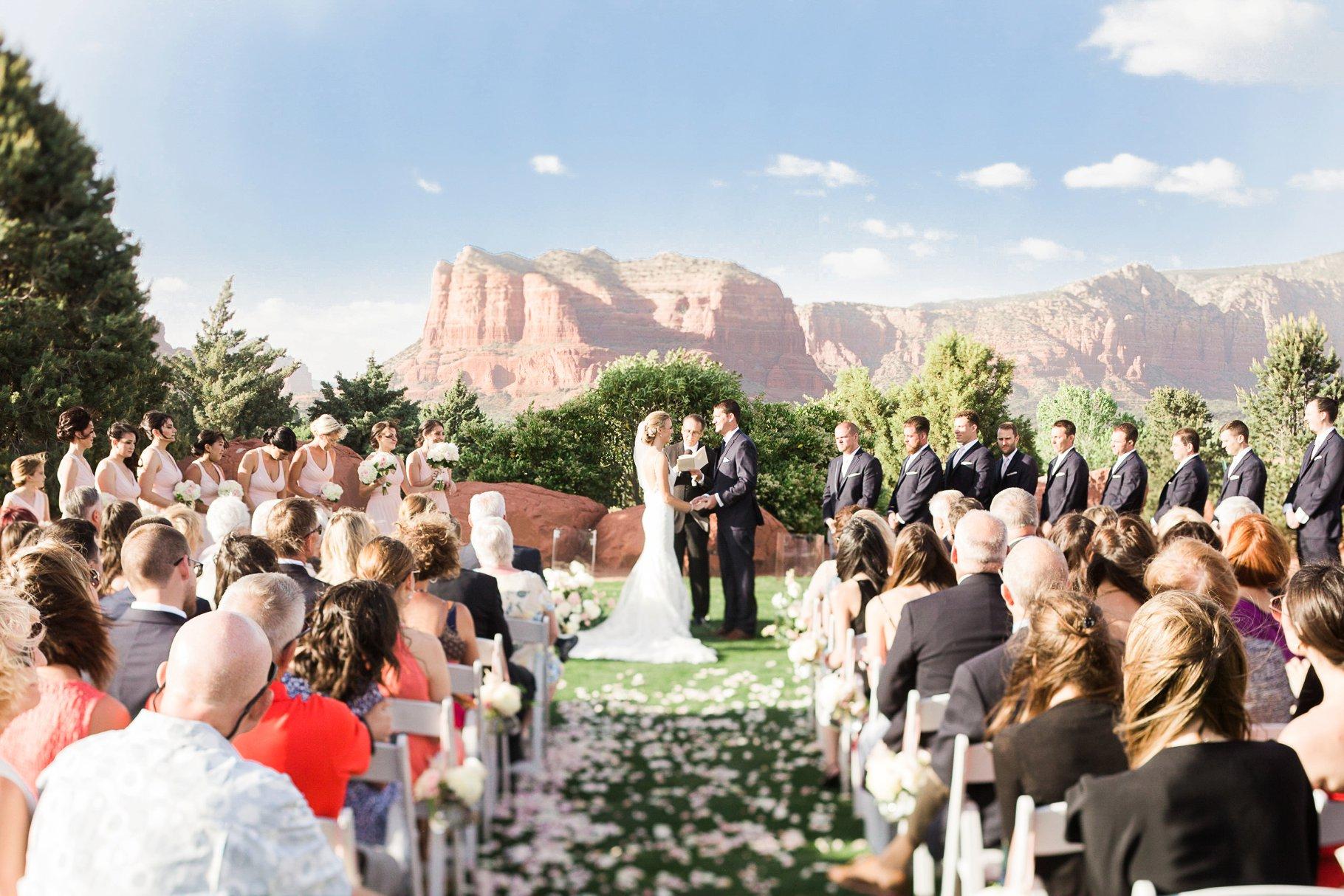 Outdoor wedding at Sedona Golf Resort