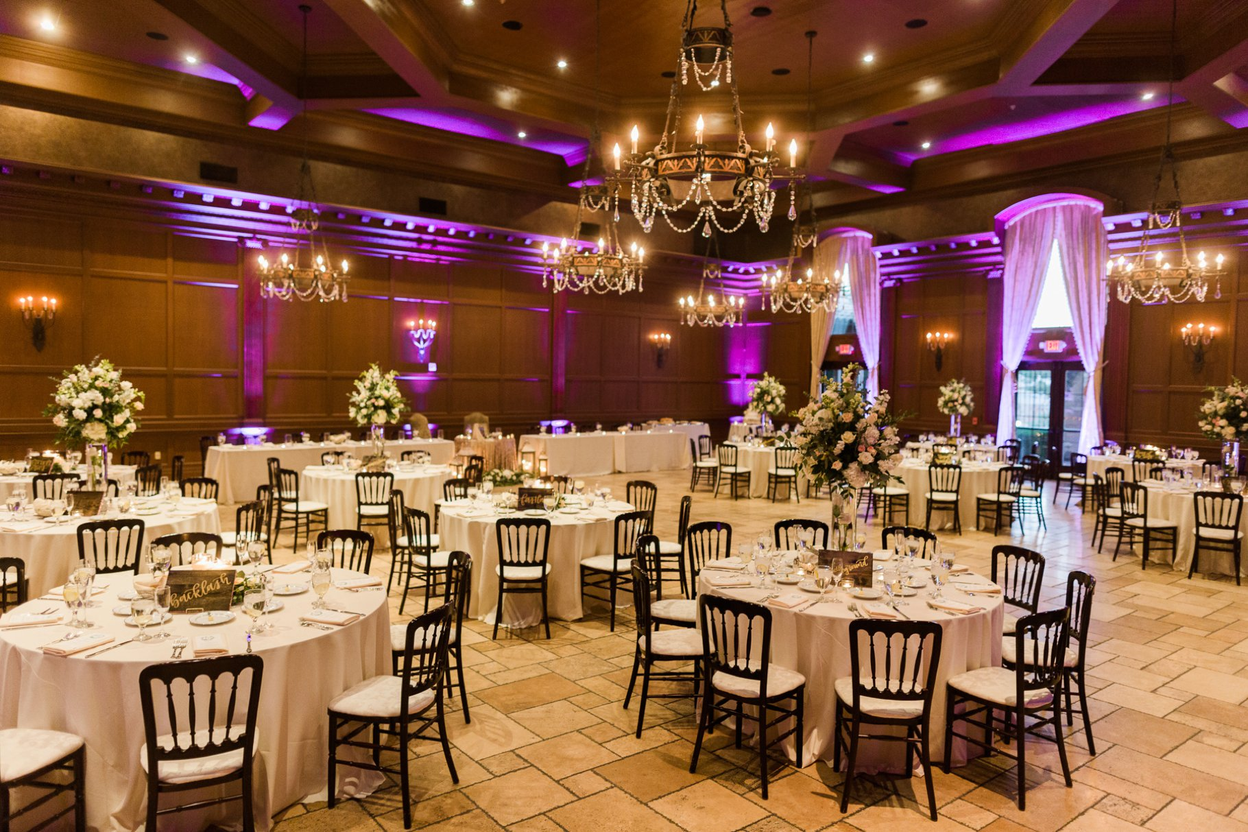 Wedding reception at Villa Siena