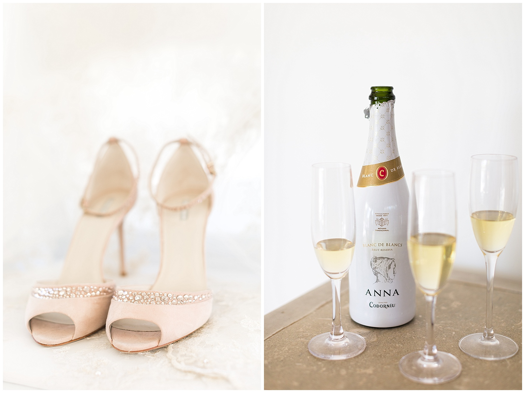 Wedding shoes and Anna Champagne