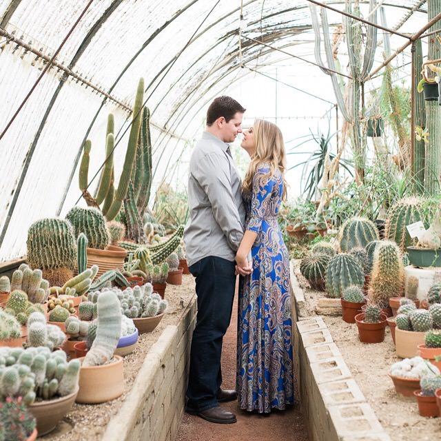 engagement session at arboretum