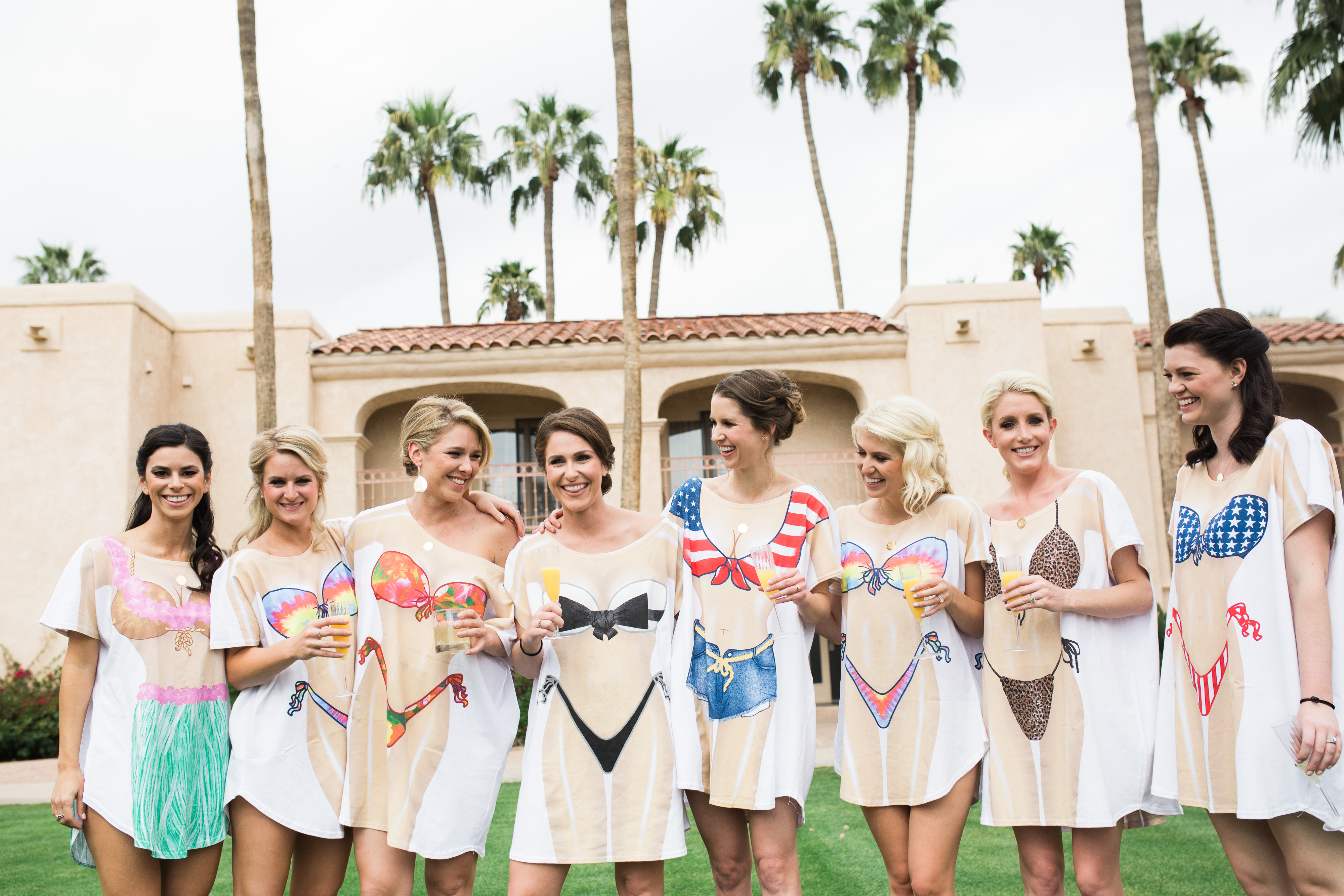 Bridesmaids in Bikini t-shirts