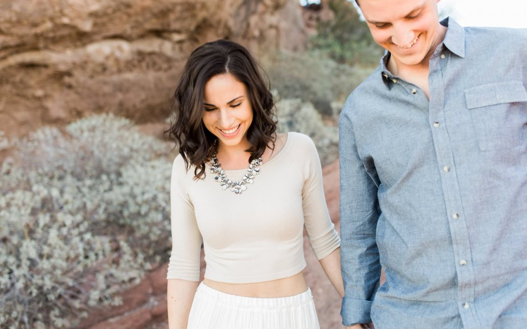 PAPAGO PARK ENGAGEMENT SESSION | BRITTANY & NICK